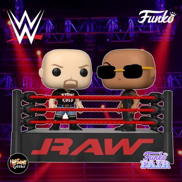 Funko Pop! Moment: WWE - The Rock Vs. Stone Cold Steve Austin in Wrestling Ring Funko Pop! Vinyl Figure