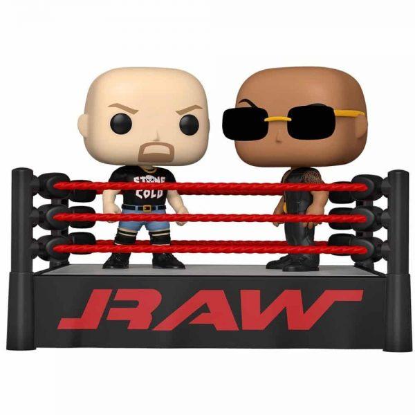 Funko Pop! Moment WWE - The Rock Vs. Stone Cold Steve Austin in Wrestling Ring Funko Pop! Vinyl Figure