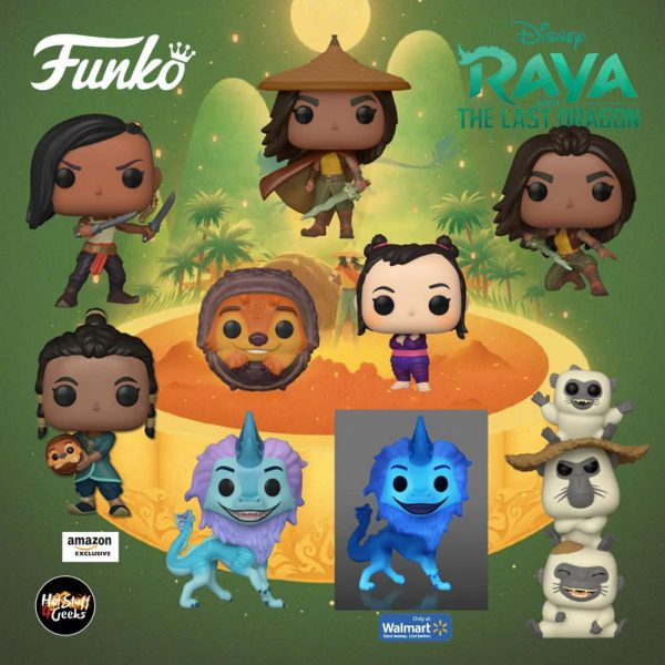 Funko Pop! Movies: Raya and the Last Dragon - TukTuk, Sisu, Raya Warrior, Raya, Ongis, Noi, Namaari, and Sisu GITD Funko Pop! Vinyl Figures - Funko Fair 2021