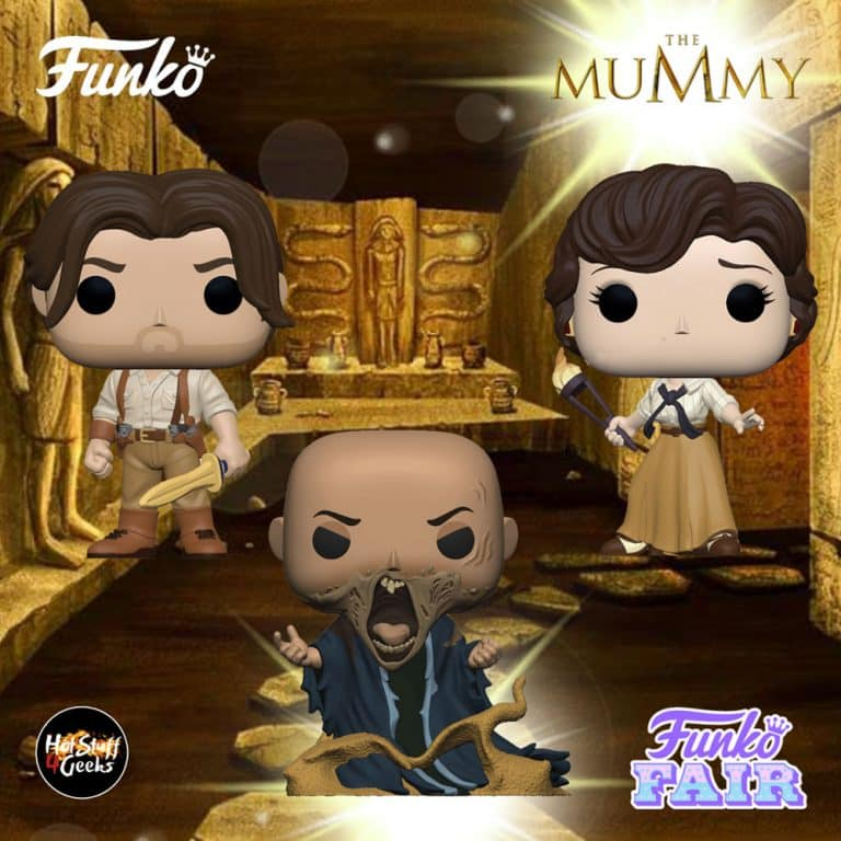 Funko Pop! Movies: The Mummy - Imhotep, Rick O'Connell, and Evelyn Carnahan Funko Pop! Vinyl Figures