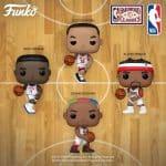 Funko Pop! NBA Legends - Isiah Thomas, George Gervin, Dominique Wilkins, Hakeem Olajuwon, Julius Erving, Scottie Pippen, Allen Iverson, Dennis Rodman, and Michael Jordan Funko Pop! Vinyl Figures - Funko Fair 2021