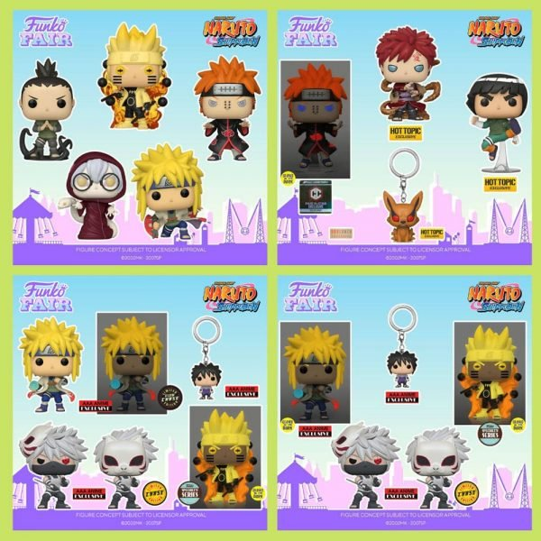 Funko Pop! Animation: Naruto Shippuden - Pain, Six Path Sage, Shikamaru Nara, Minato Namikaze, Kabuto Yakushi, Six Path Sage GITD, Pain GITD, Minato Namikaze Rasengan with GITD Chase, Kakashi ANBU With Chase, Rock Lee and Gaara Metalic Funko Pop! Vinyl Figures - Funko Fair 2021