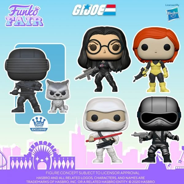 Funko Pop! Retro Toys: G.I. Joe - Version 1 Snake Eyes, Version 2 Storm Shadow - Scarlett, The Baroness, and Snake Eyes With Timber (Funko Shop Exclusive) Funko Pop! Vinyl Figures - Toy Fair 2021
