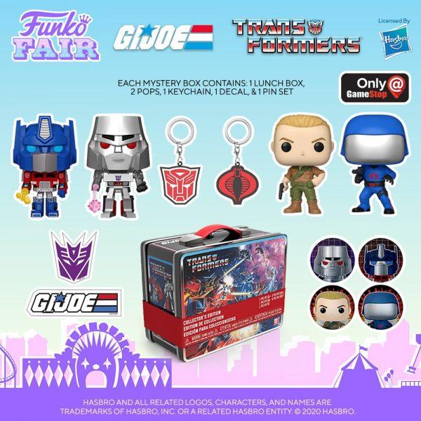 Funko Pop! Retro Toys Transformers vs G.I. Joe Box Mystery Box - Game Stop Exclusive