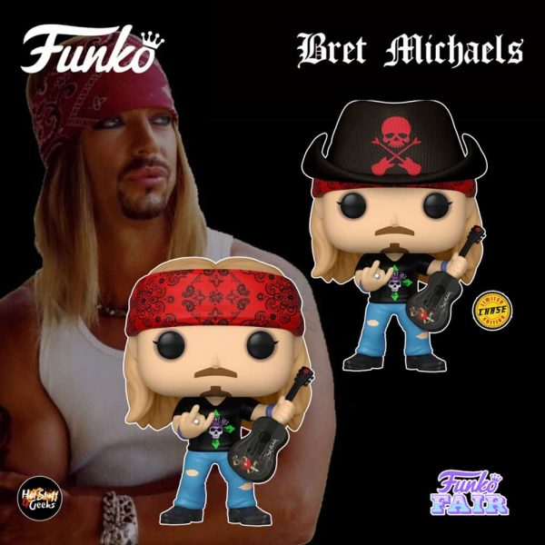 Funko Pop! Rocks Bret Michaels With Chase Variant Funko Pop! Vinyl Figure