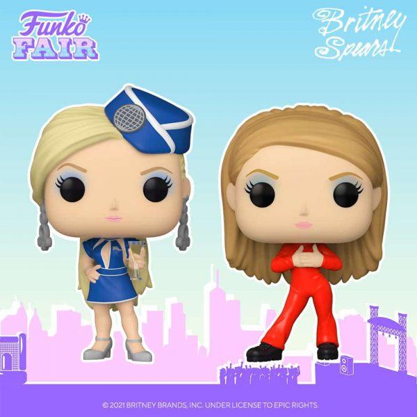 Funko Pop! Rocks: Britney Spears Oops I Did it Again Catsuit Britney and Britney Spears Toxic Stewardess Funko Pop! Vinyl Figures - Funkio Fair 2021