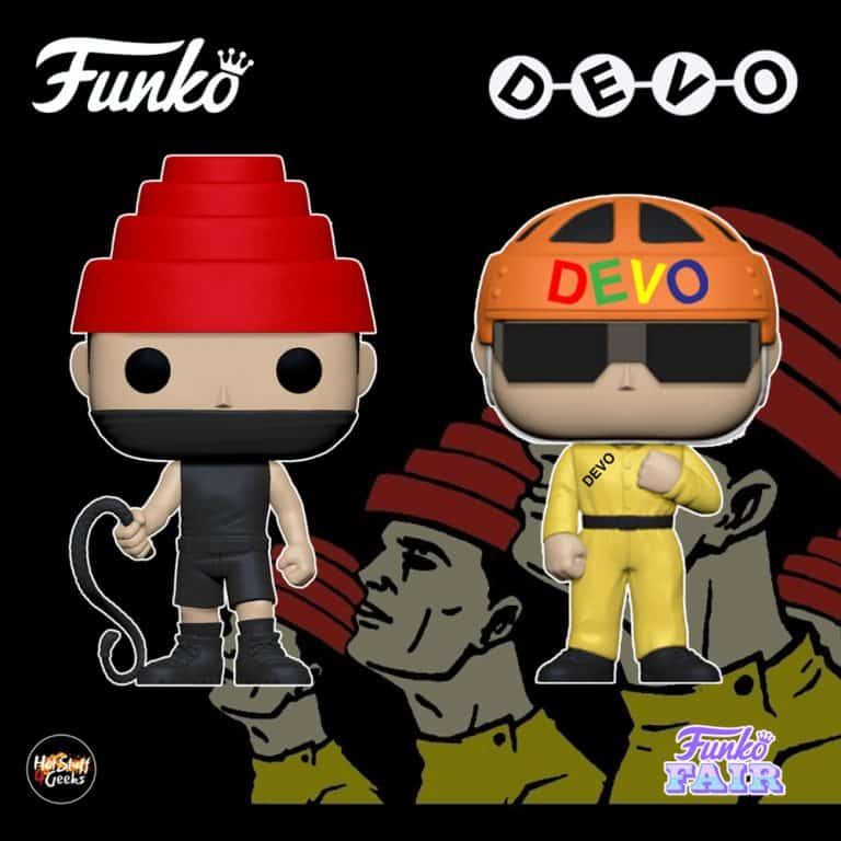 Funko Pop! Rocks: Devo - Whip It with Whip and Satisfaction (Yellow Suit) Pop! Vinyl Figures
