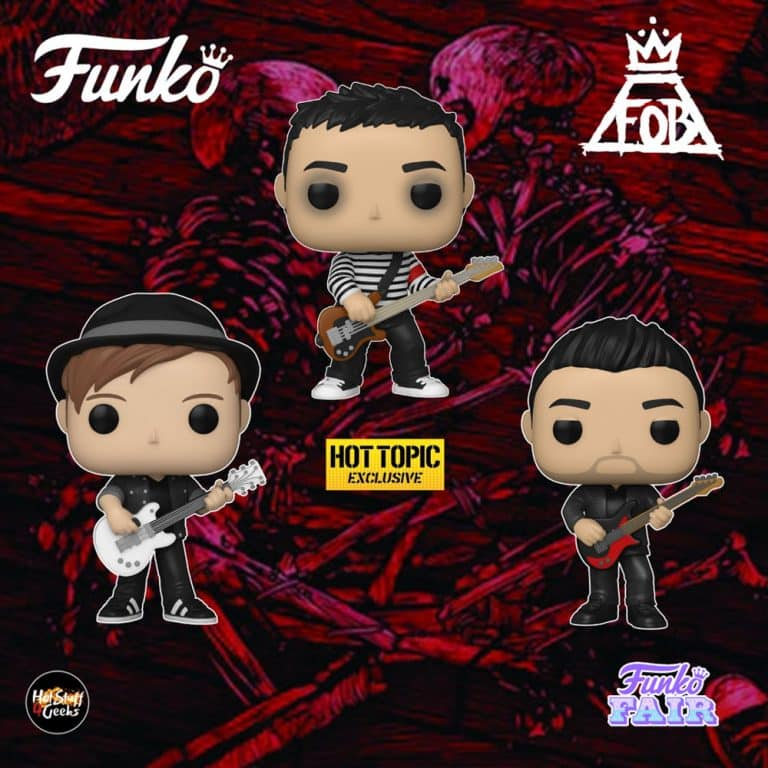 Funko Pop! Rocks: Fall Out Boy - Pete Wentz, Patrick Stump and Pete Wentz (Hot Topic) Funko Pop! Vinyl Figures