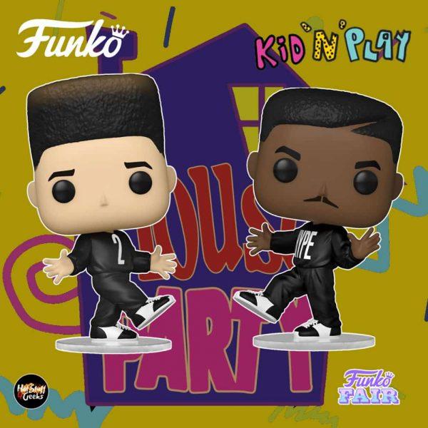 "Funko Pop! Rocks: Kid 'N Play - Christopher ""Kid"" Reid and Christopher ""Play"" Martin Funko Pop! Vinyl Figures - Funko Fair 2021"