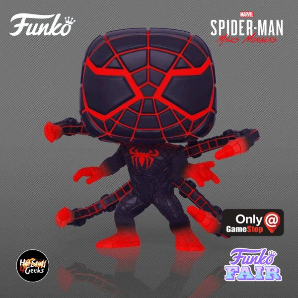 Funko Pop! Spider-Man Miles Morales Game – Miles Morales Programmable Matter Suit Glow-In-The-Dark (GITD) Funko Pop! – GameStop Exclusive