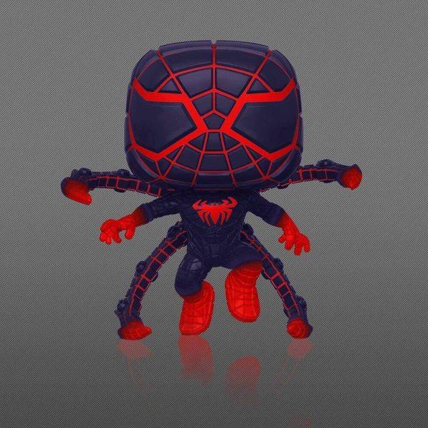 Funko Pop! Spider-Man Miles Morales Game – Miles Morales Programmable Matter Suit (Pose) Glow-In-The-Dark (GITD) Funko Pop! – GameStop Exclusive