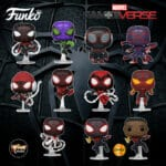Funko Pop! Spider-Man Miles Morales Game - Miles Morales in STRIKE Suit, 2020 Suit, Winter Suit, Advanced Tech Suit, Programmable Matter Suit, Bodega Cat Suit, Metallic Suit, Crimson Cowl Suit, Track Suit and Classic Suit with Chase Varian Funko Pop! Vinyl Figures