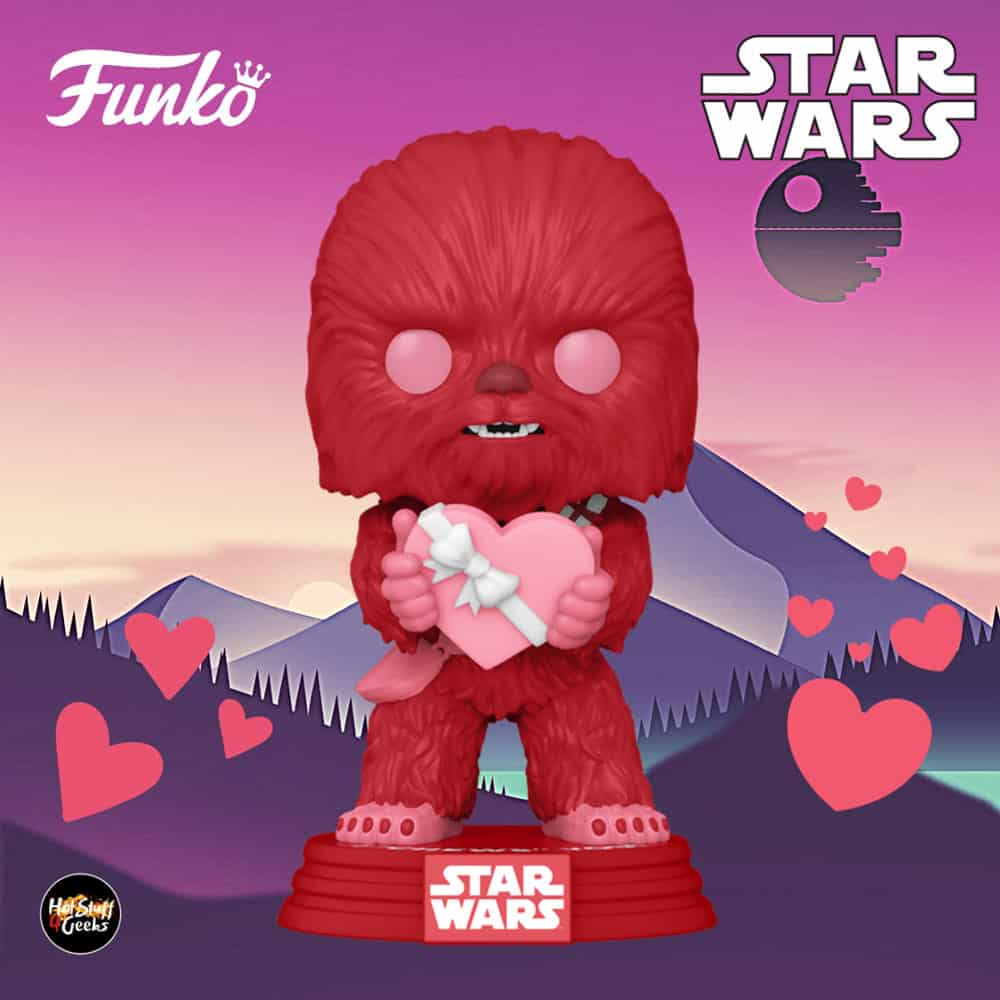 Funko Pop! Star Wars Valentine's Day - Cupid Chewbacca with Heart Funko Pop! Vinyl Figure