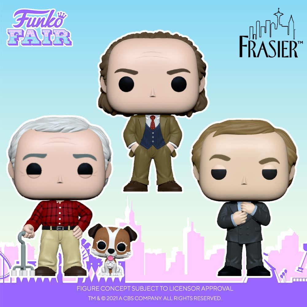 Funko Pop! Television: Frasier - Frasier, Niles and Martin with Eddie Pop! Vinyl Figures - Funko Fair 2021