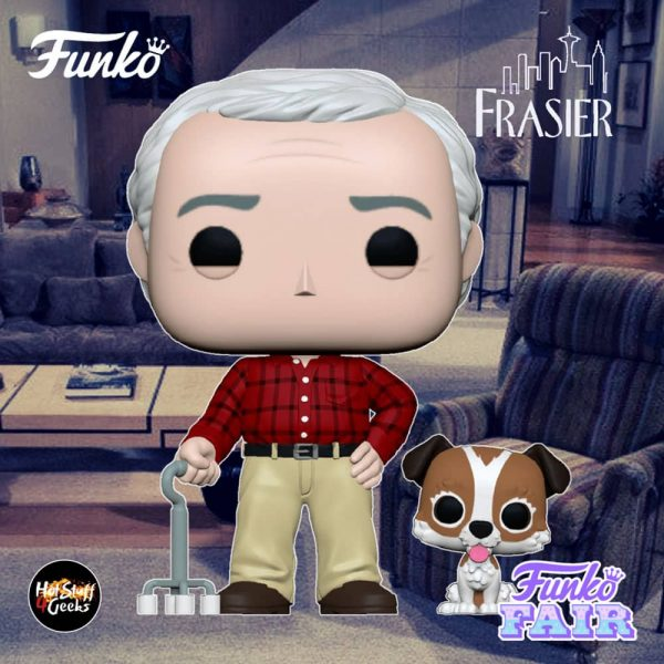 Funko Pop! Television: Frasier - Martin with Eddie Funko Pop! Vinyl Figure