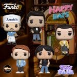 Funko Pop! Television: Happy Days - Chachi, Arnold, Richie, Fonzie, and Joanie Funko Pop! Vinyl Figures - Funko Fair 2021