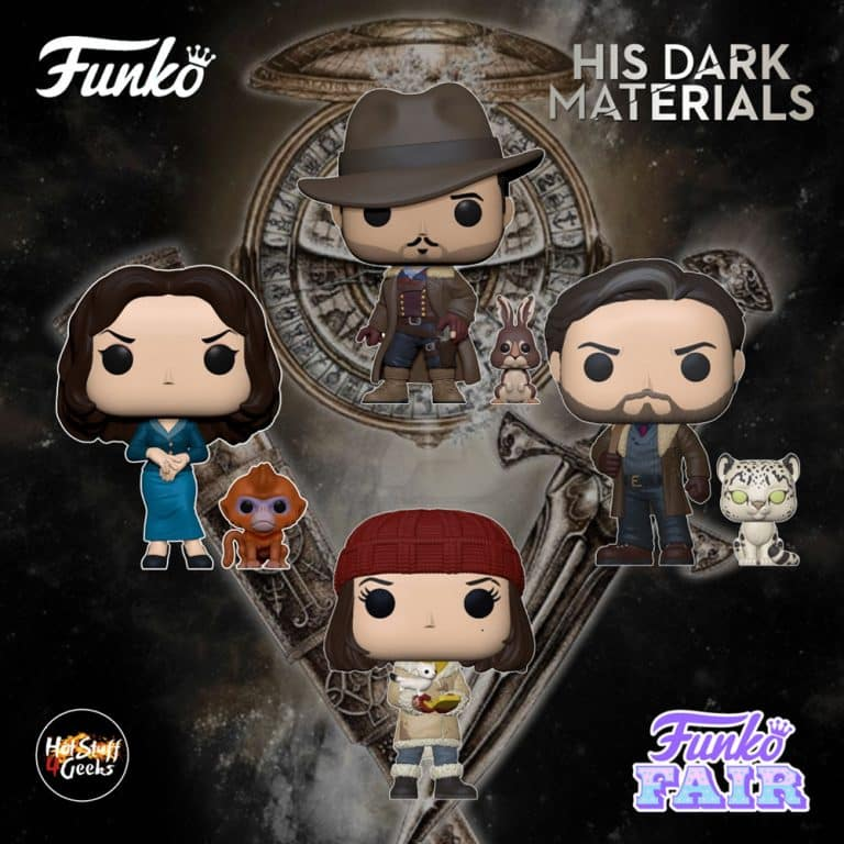 Funko Pop! Television: His Dark Materials - Lyra with Pan Daemon, Mrs. Coulter with Golden Monkey Daemon, Asriel with Stelmaria Daemon, Lee with Hester Daemon Funko Pop! Vinyl Figures - Funko Fair 2021