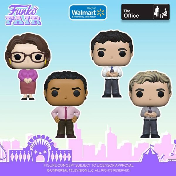 Funko Pop! Television: The Office - Creed With Chase Variant, Creed With Mung Beans, Ryan Howard, Phyllis Vance, Oscar Martinez, Ryan Howard (Blonde), Dwight Schrute With Chase, and Michael Scott Exclusives Funko Pop! Vinyl Figures - Toy Fair 2021