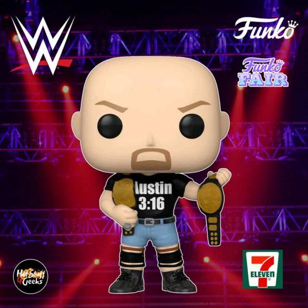 Funko Pop! WWE - Stone Cold Steve Austin 3:16 shirt with 2 Belts Funko Pop! Vinyl Figure - 7-11 Exclusive
