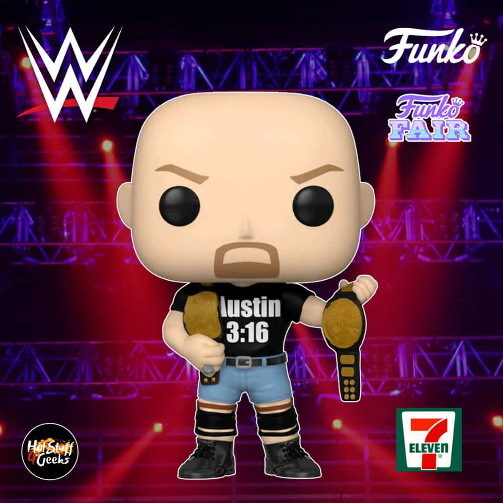 NEW Stone Cold Steve Austin 7//11 7-Eleven Exclusive WWE Funko Pop