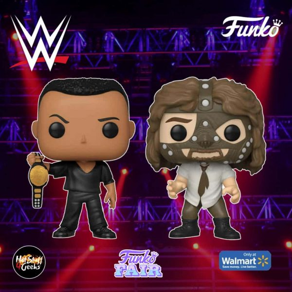 Funko Pop! WWE - The Rock vs. Mankind (2 Pack) Funko Pop! Vinyl Figure - Walmart Exclusive
