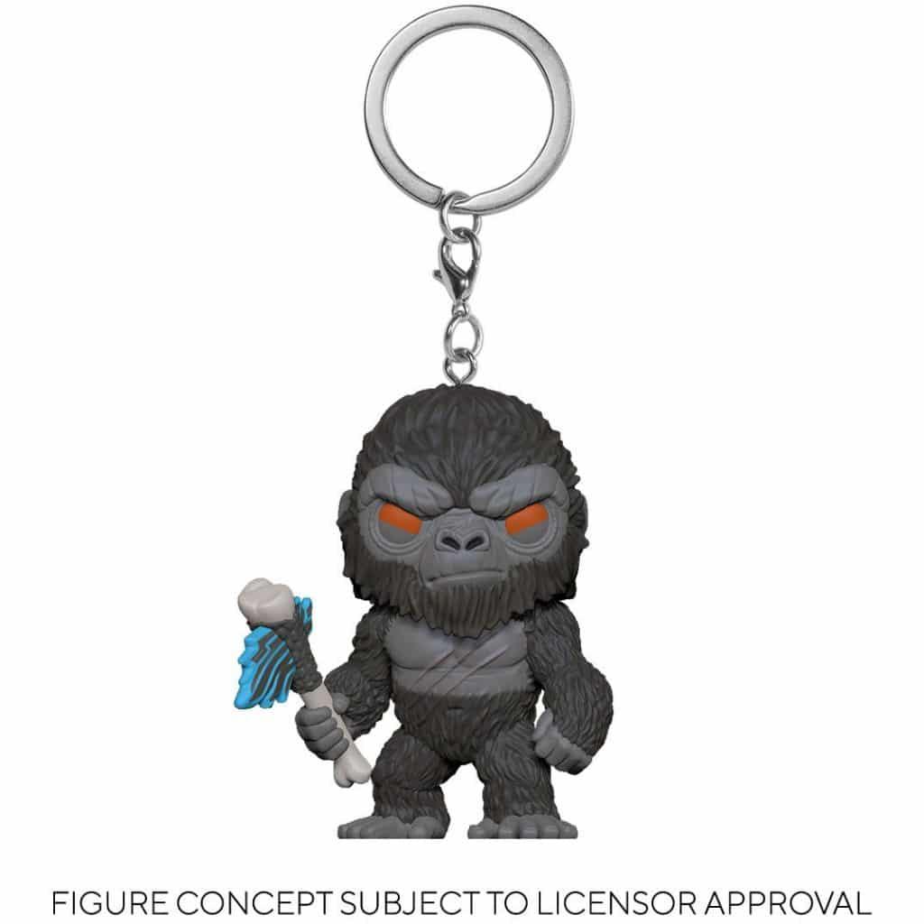 Godzilla vs. Kong Kong with Weapon Pocket Pop! Key Chain