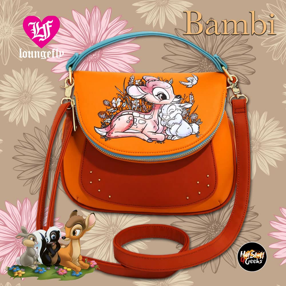 Loungefly Disney Bambi Floral Forest Crossbody Bag