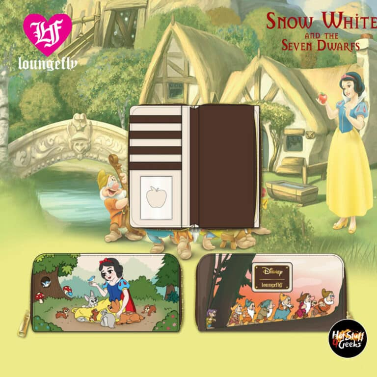 Loungefly Disney Snow White And The Seven Dwarfs Multi Scene Zip Around Wallet