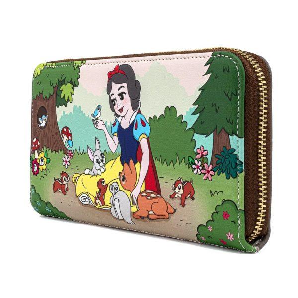 Loungefly Disney Snow White And The Seven Dwarfs Multi Scene Zip Around Wallet