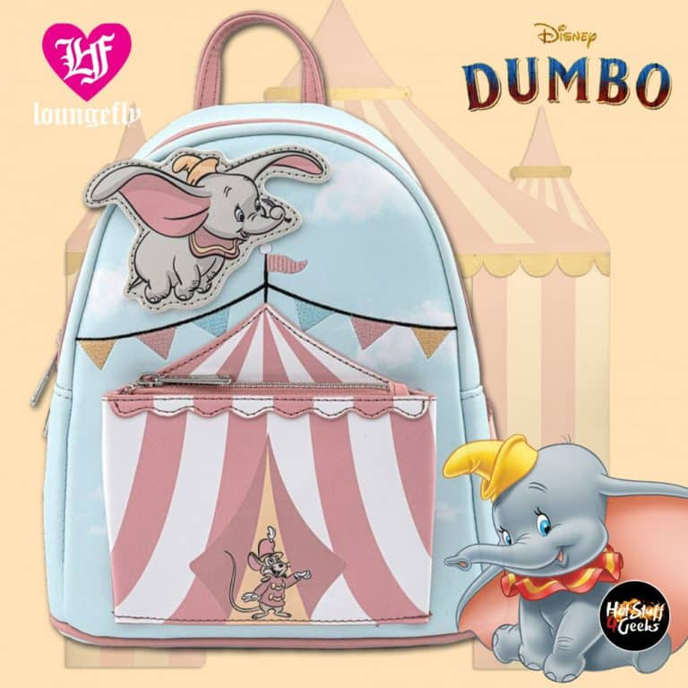 Loungefly Dumbo Flying Circus Tent Mini-Backpack