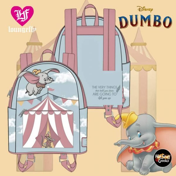 Loungefly Dumbo Flying Circus Tent Mini-Backpack