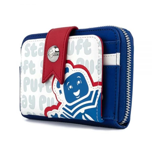 Loungefly Ghostbusters Stay Puft Marshmallow Man Zip-Around Wallet