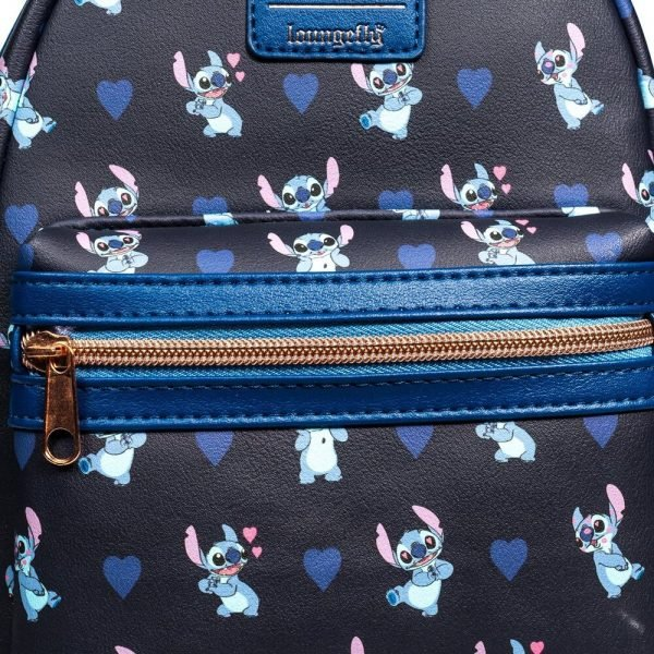 Loungefly Lilo & Stitch - Stitch Hearts Mini-Backpack - Entertainment Earth Exclusive