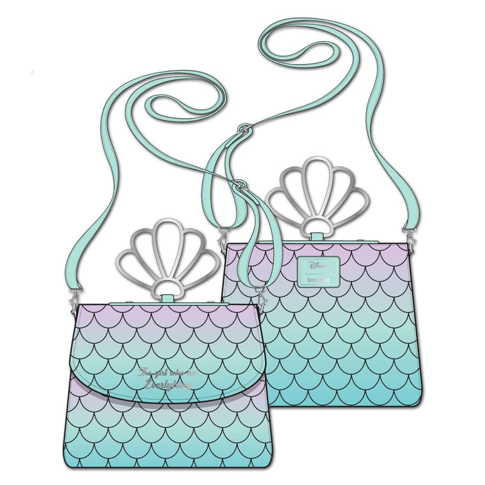 Loungefly Little Mermaid Ombre Scales Crossbody Purse