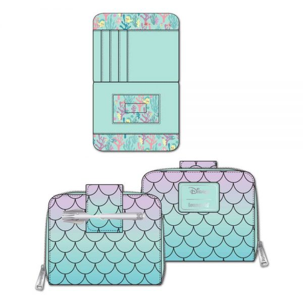 Loungefly Little Mermaid Ombre Scales Zip-Around Wallet