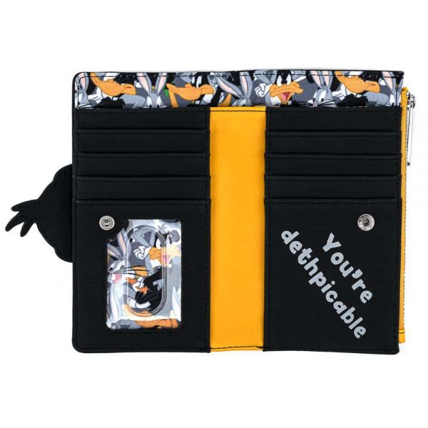 Loungefly Looney Tunes Daffy Duck Cosplay Flap Wallet