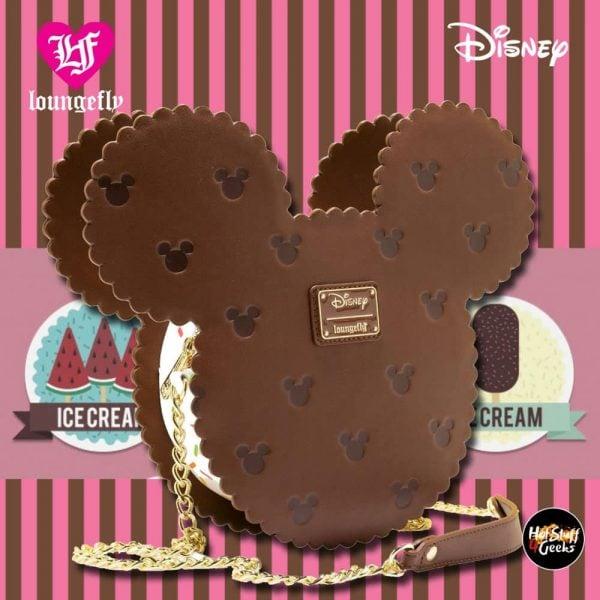 Loungefly Mickey Mouse Ice Cream Sandwich Crossbody Purse