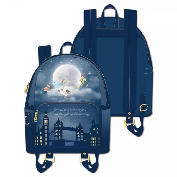 Loungefly Peter Pan Second Star to the Right Glow-In-The-Dark (GITD) Mini-Backpack