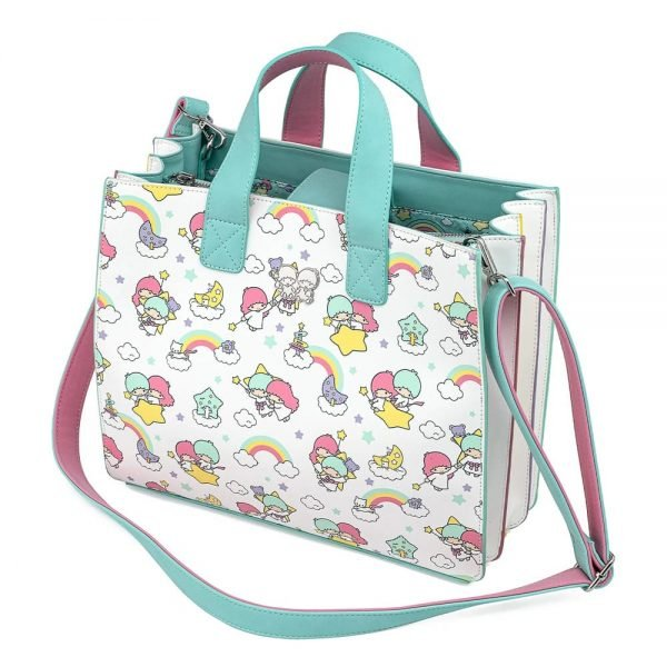 Loungefly Sanrio Little Twin Stars Rainbow All Over Print Crossbody Bag
