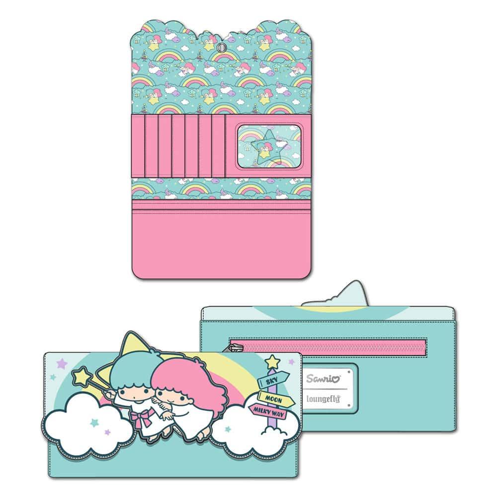 Loungefly Sanrio Little Twin Stars Rainbow Cloud Tri-Fold Wallet