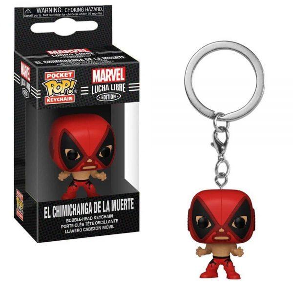 Marvel Luchadores El Chimichanga De La Muerte Deadpool Pocket Pop! Key Chain