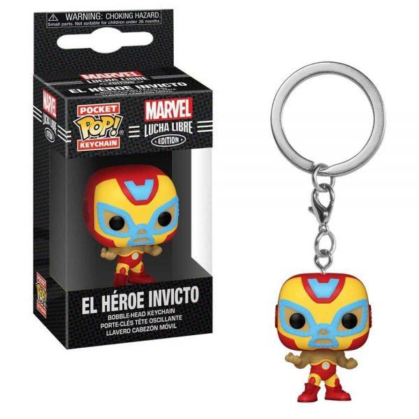 Marvel Luchadores El Heroe Iron Man Pocket Pop! Key Chain