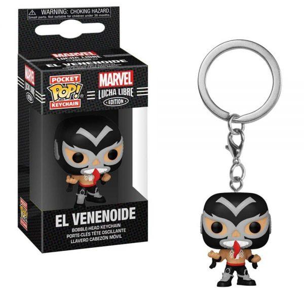Marvel Luchadores El Venenoide Venom Pocket Pop! Key Chain