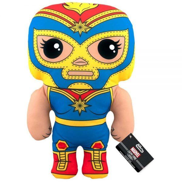 Marvel Luchadores La Estrella Cosmica Captain Marvel 17-Inch Plush