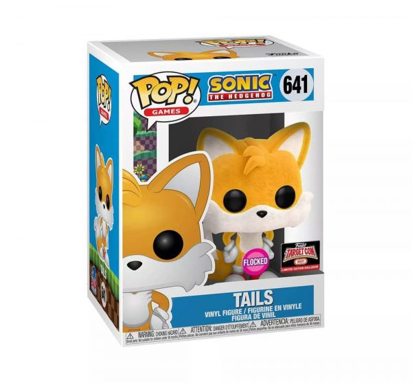 Funko Pop! Games: Sonic The Hedgehog - Tails Flocked Funko Pop! Vinyl Figure - Target Con 2021 Exclusive