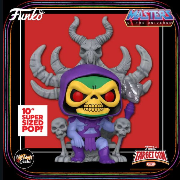 Funko Pop! Retro Toys Deluxe: Masters of the Universe - Skeletor on Throne 10- Inch Funko Pop! Vinyl Figure - Target Con 2021 Exclusive