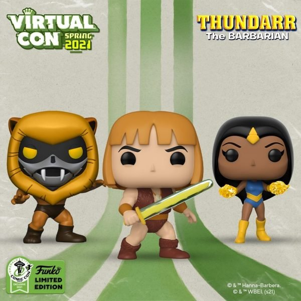Funko Pop! Animation: Thundarr The Barbarian - Ookla the Mok, Princess Ariel and Thundarr Funko Pop! Vinyl Figures - Funko Virtual Con Spring 2021, ECCC 2021, Spring Convention 2021 and Funko Shop Exclusive