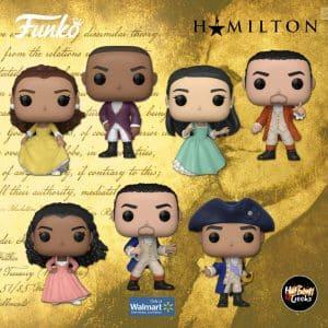Funko Pop! Broadway: Hamilton - Alexander Hamilton, Aaron Burr, Eliza Hamilton, George Washington, Angelica Schuyler, Peggy Schuyler, and Alexander Hamilton (Blue Coat) Funko Pop! Vinyl Figures