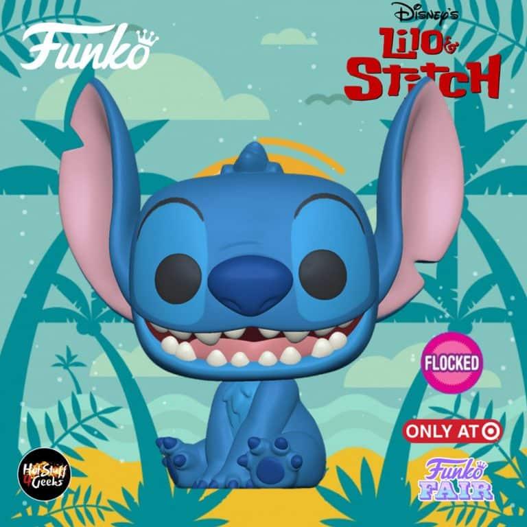 Funko Pop! Disney: Lilo & Stitch - Smiling Stitch Seated Flocked Funko Pop! Vinyl Figure - Target Exclusive