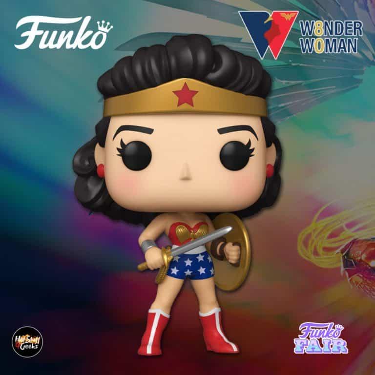 Funko Pop! Heroes: Wonder Woman 80th Anniversary - Golden Age (1950's) Funko Pop! Vinyl Figure - Funko Fair 2021
